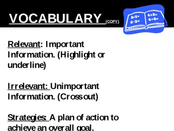 What is Relevant Information? Plan & Solve