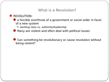 What is Revolutionary?