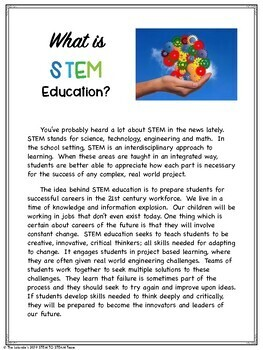 What is STEM?  A Parent Handout