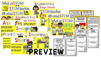 What is STEM? (An Introduction to STEM with Signs, Booklet, & Challenges)