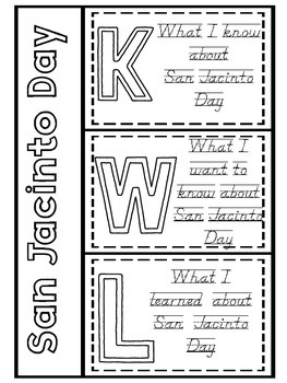 What is San Jacinto Day? A (printable) Read Aloud Book & Activites