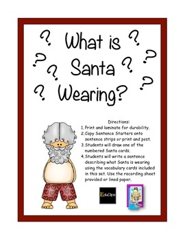 What is Santa Wearing? A Writing Station
