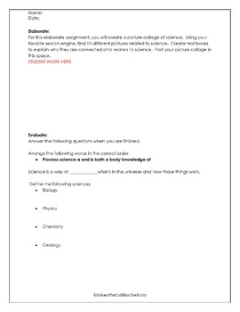 What is Science:  A 5E Editable Lesson