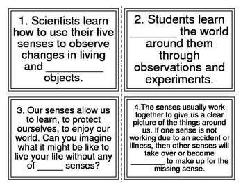 What is Science Cloze Task Cards
