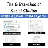 5 Branches of Social Studies COMPLETE LESSON for Middle School