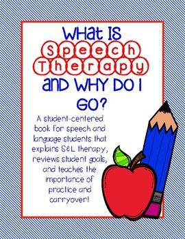 """What is Speech Therapy?"" First Day of Speech Activity"
