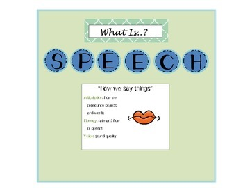What is Speech? What is Language? mini bulletin board