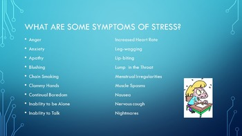 What is Stress? Power Point Student Assignments Teacher Discussion Questions