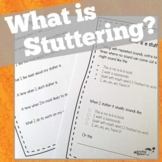 What Is Stuttering? Activities for Therapy and the Classroom