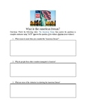 """What is """"The American Dream""""?"""