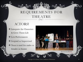 """""""What is Theatre?"""" Slideshow Introduction to Theatre & Theater"""
