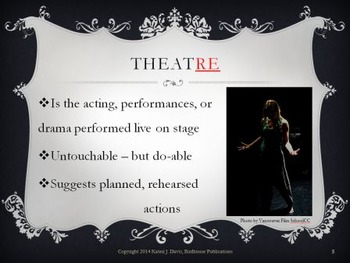 """What is Theatre?"" Slideshow Introduction to Theatre & Theater"