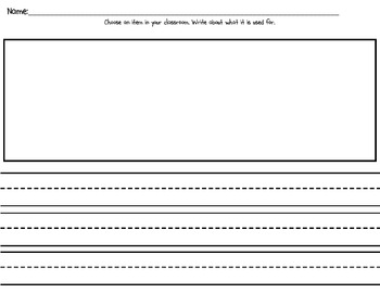 """""""What is This For?"""" High Frequency Word Book and Writing Prompt"""
