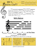 What is Treble Clef? Worksheet