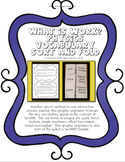 What is WORK? Vocabulary and Sort Fold