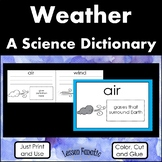 Weather  A Color, Cut, and Glue Dictionary