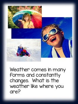 What is Weather?  A Non-fiction read aloud