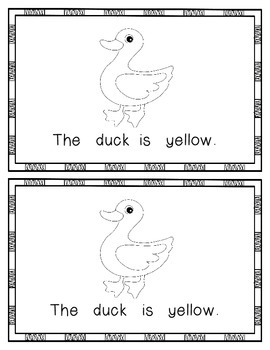 What is Yellow?  Emergent Reader