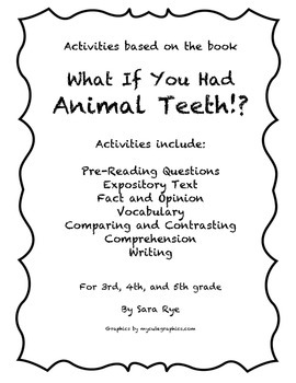 What If You had Animal Teeth!? Packet