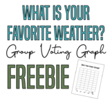 What is Your Favorite Weather? - Group Voting Graph FREEBIE!!