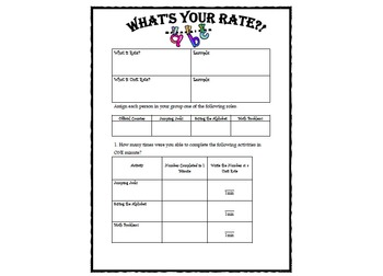What is Your Rate?!