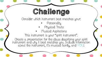 What is Your Spirit Instrument: A Review Activity