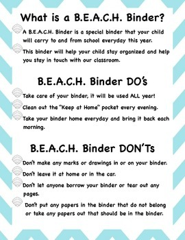 What is a B.E.A.C.H. Binder?
