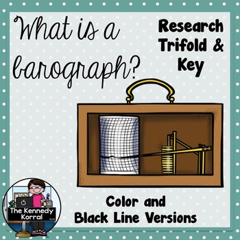 What is a Barograph? {Research Trifold and Answer Key}
