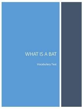What is a Bat Vocabulary Test