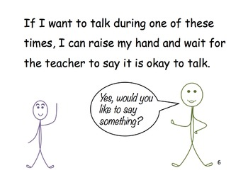 Classroom etiquette: talking, blurting answers, chatting, and interrupting.