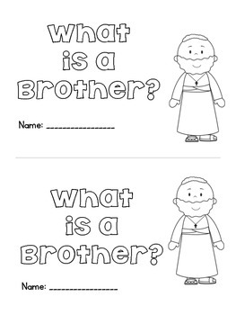 What is a Brother? Emergent Reader