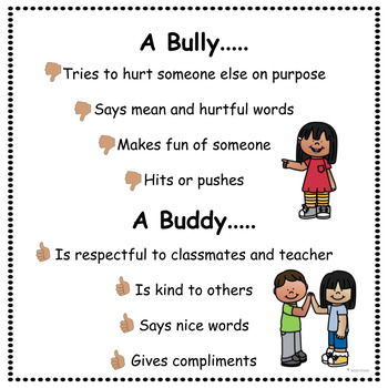 Bullying Social Story and Activity