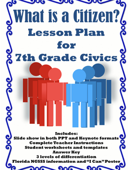 What is a Citizen?- 7th Grade Civics Lesson