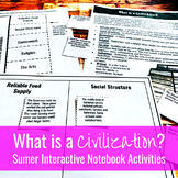 What is a Civilization? Sumerian / Mesopotamian Interactive Notebook Activities