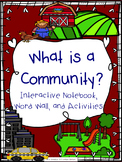 Communities Interactive Notebook, Word Wall, and Activities