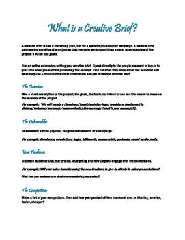 What is a Creative Brief?