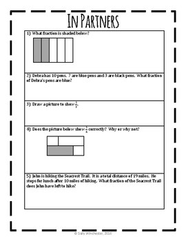 What is a Fraction?  Part of a Set and Part of a Whole, Complete Lesson Packet!