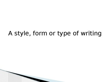What is a Genre of Writing?