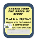 What is a Light Year Nonfiction Reading w/ calculation & comprehension questions