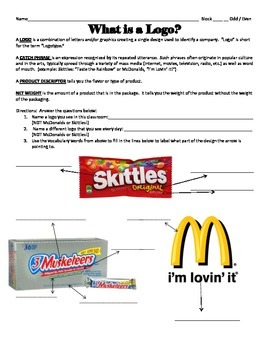What is a Logo? Worksheet