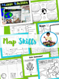 Map Skills: Maps and Globes Map Activities Geography, Ocea