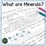 What is a Mineral? PPT Introduction, Frayer Model, INB Pages