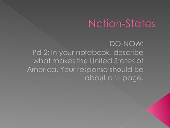 What is a Nation State? PPT/ Lecture