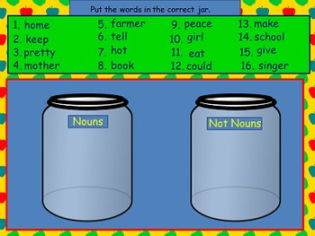 What is a Noun Power Point and Printables