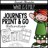 What is a Pal? - Journeys First Grade Print and Go Activities