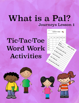 What is a Pal?  Journeys Lesson 1