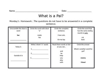 What is a Pal? Journys Common Core
