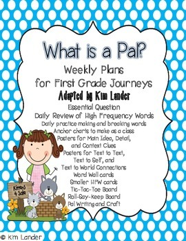 What is a Pal? Weekly Plans and Support Materials