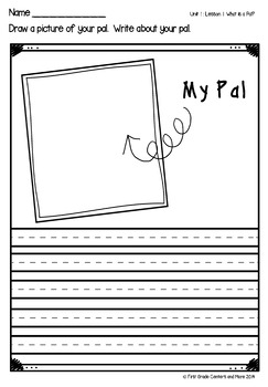 What is a Pal? aligned with Journeys First Grade Unit 1 Lesson 1
