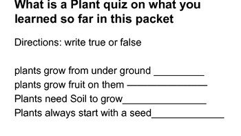 What is a Plant packet